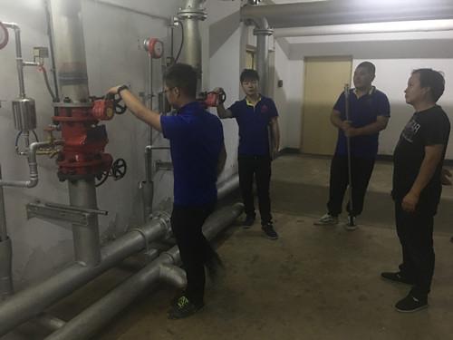 我部联合工程部请北京远佳城消防安全技术有限公司对大厦进行消电检